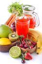 Multivitamin juice healthy with various fruit and vegetables Stock Photography