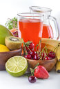 Multivitamin juice healthy with various fruit and vegetables Stock Photos