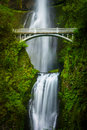 Multnomah Falls and bridge Royalty Free Stock Photo