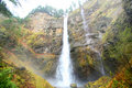 Multnomah Falls in Oregon Stock Photo