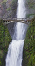 Multnomah falls oregon beautiful in the columbia gorge in after a rock damage the bridge in january Stock Photography