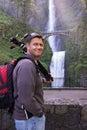 Multnomah Falls photography trip Royalty Free Stock Image