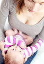 Mum and baby share a tender moment Royalty Free Stock Photo