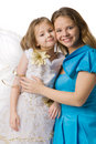 Mum embraces  daughter Royalty Free Stock Images