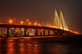 Mumbai sea link bandra worli at night one of the famous bridge in india and popular tourist attraction in or bombay india Stock Images