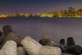 Mumbai skyline from nariman point a view in Royalty Free Stock Image