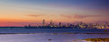 Mumbai skyline view as seen from the marine drive in Royalty Free Stock Images