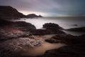 Mumbles lighthouse and Bracelet Bay Royalty Free Stock Photo