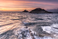 Mumbles lighthouse Swansea Bay Royalty Free Stock Photo