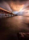 Mumbles pier sunrise Royalty Free Stock Photo