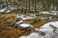Mumlava river with cascade, Czech Republic Royalty Free Stock Photo