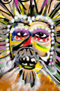 Mummels mask picture of colourful mummers Stock Image