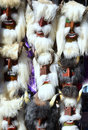 Mummers masks of market in romania Royalty Free Stock Photos