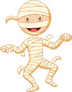 Mummy cartoon walking illustration of Royalty Free Stock Photo