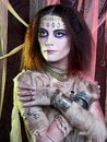 Mummy girl young woman in creative theatrical image and with artistic visage Stock Photography
