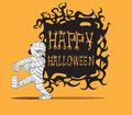 Mummy halloween monster hand drawing image illustration Royalty Free Stock Image