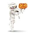 Mummy hold a pumpkin