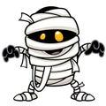 Mummy vector illustration of cartoon Stock Images