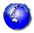 Mundo azul do curso Imagem de Stock Royalty Free