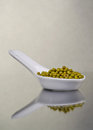 Mung beans in a ceramic bowl Royalty Free Stock Photo