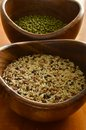 Mung Beans and Rice Stock Photo