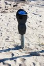 Muni meter after storm sandy in new york oceanview streets coney island area of were devastating by one of the evidence of that Royalty Free Stock Photo