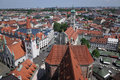 Munich aerial view of germany Stock Photography