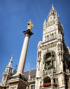 Munich city hall famous at the marienplatz germany bavaria Stock Photo