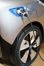 Munich february charging plug bmw i electric concept car focus customer exhibition bmw welt february munich germany Stock Photography