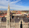 Munich gothic city hall at marienplatz bavaria germany Stock Photos