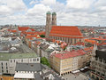 Munich Old City from Above Royalty Free Stock Photos
