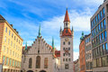 Munich old town hall with tower bavaria germany Royalty Free Stock Images
