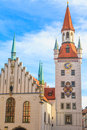 Munich old town hall with tower bavaria germany Stock Photo