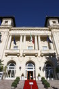Municipal casino of sanremo picture the the city italy Royalty Free Stock Image