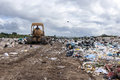Municipal landfill for household waste a big Royalty Free Stock Photo
