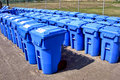 Municipal Recycling Refuse Containers Royalty Free Stock Photography