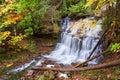 Munising Michigan - Wagner Waterfalls in Autumn Royalty Free Stock Photo