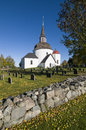 Munso medieval round church Sweden Royalty Free Stock Photo
