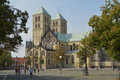 Munster cathedral germany august kathedralkirche st paulus and domplatz in münster centre Royalty Free Stock Images
