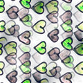 Mural Black and green heart background seamless Royalty Free Stock Photo