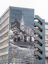Mural on a building in George Street Glasgow