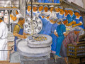 Mural in coit tower san francisco workers a cannery a part of the industries of california by ralph stackpole the lillian memorial Stock Photos