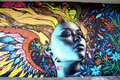 Mural in Haight Hasbury in San Francisco Royalty Free Stock Image