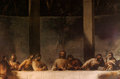 Mural of the last supper a photo a Royalty Free Stock Photos