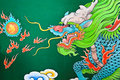 Mural painting dragon of thai chinese style it s famous place for travel Stock Photo