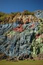 Mural prehistory huge painting cliffs vinales valley cuba Royalty Free Stock Image