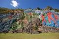 Mural prehistory huge painting cliffs vinales valley cuba Stock Image