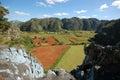 Mural prehistory huge painting cliffs vinales valley cuba Stock Photo