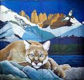 Mural in Puerto Natales in Patagonia, Chile Royalty Free Stock Photo