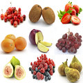 Mural of several fruits on white background Royalty Free Stock Photo